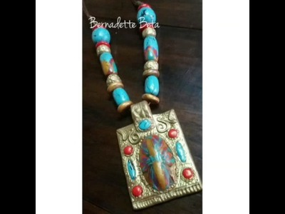Tibetan Style - polymer clay necklaces