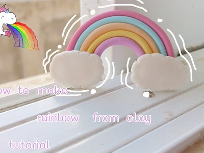 สอนปั้นสายรุ้ง????| How to make rainbow from clay tutorial | sweetdecopl