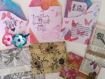 Very easy envelopes, pocket tags and tags from 12'x12' paper