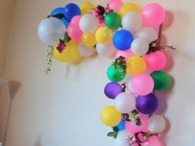 Wedding anniversary diy home decor (part 2). Balloon arch