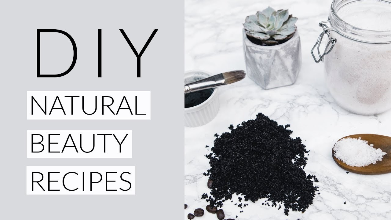 3 EASY DIY NATURAL BEAUTY RECIPES | charcoal peel face mask, coffee body scrub & bath salts