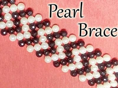 #33 How to Make Pearl Beaded Bracelet    Diy    Jewellery Making