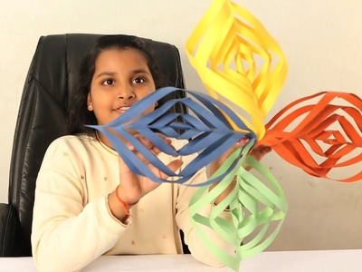 3D Snowflake DIY Tutorial | How to Make 3D Paper Snowflakes for homemade decorations