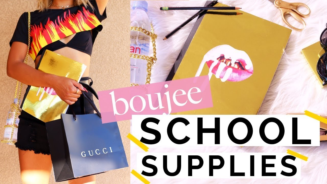 5 DIY BOUJEE BACK TO SCHOOL SUPPLIES   Nava Rose
