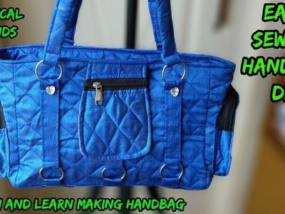 6 pocket handbag making at home diy.hindi.|amzon|flipkart|snapdeal|voonik|myntra|e-bay|shopclue|