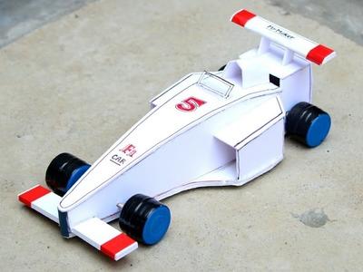 Amazing F1 Racing Car - How to make - [ DIY tutorial ]