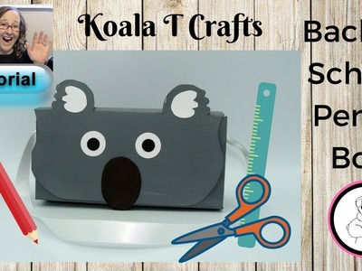 Back to School HOP. DIY Pencil case. Cereal box upcycle TUTORIAL Collab with Prizes!