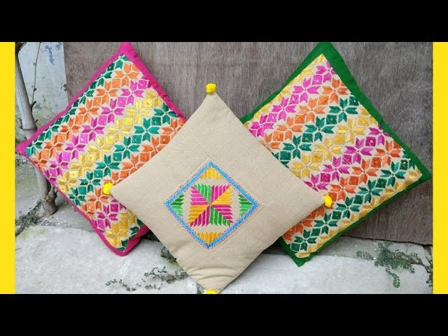 Beautiful Cushion Cover cutting and stitching tutorial |DIY| Home Decor|