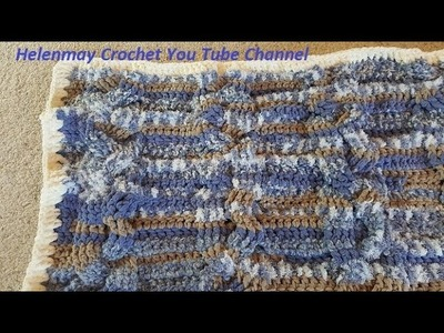 Crochet Braided Cable Baby Blanket Pictorials and Border DIY Video Tutorial
