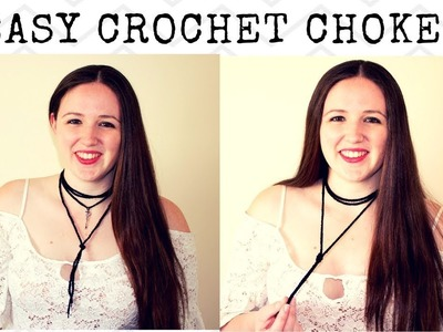 Crochet Choker Neckalce - Easy Crochet Choker Chain Necklace