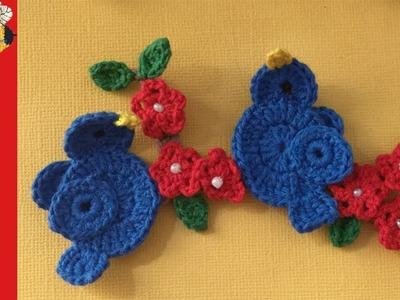Crochet Pattern Birds Sitting on a Branch