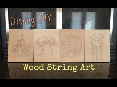 Make Disney Diy Wooden String Nail Art Tutorial Disney Diy Wooden