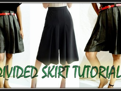 Divided Skirt Tutorial | Easy making | Divided Skirt With Box Pleats | DIY