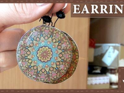 DIY    3D Ethnic Earrings    Epoxy Resin    Polymer Clay Tutorial