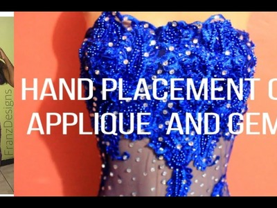 DIY: Applying Applique And Gems To Dress | DIYwithFranz