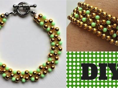 DIY beaded simple and elegant  bracelet -Jewelry making tutorial