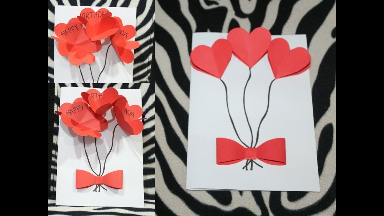 Diy Birthday Greeting Card Pop Up Greeting Card How To Make