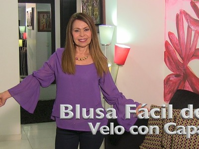 DIY Blusa Fácil de velo con Capa  Easy vel blouse with coat