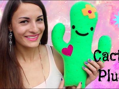 DIY Cactus Plushie! How To Make Stuffed Animal Tutorial- Comment Faire un Cactus en Peluche!