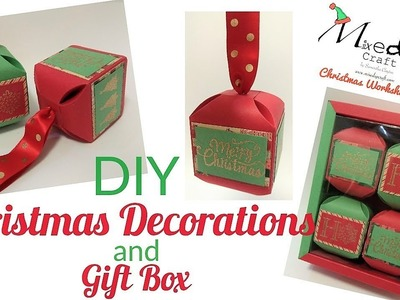 DIY Christmas Decorations and Gift Box | Video Tutorial