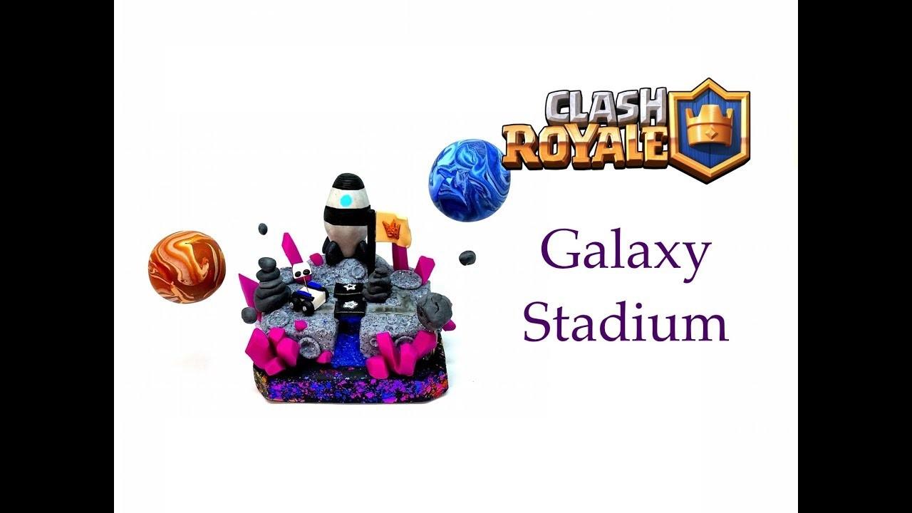 DIY Clash Royale FAN ART Arena - Galaxy Stadium - Polymer clay tutorial