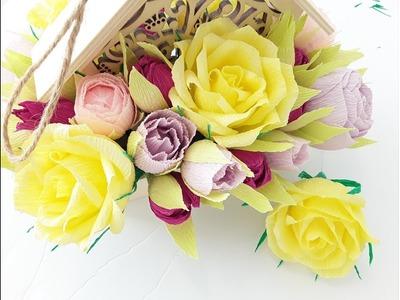 DIY Crepe Paper Rose Tutorial