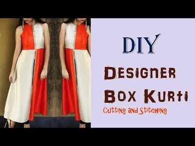 DIY Designer Box Kurti Cutting And Stitching Full Tutorial