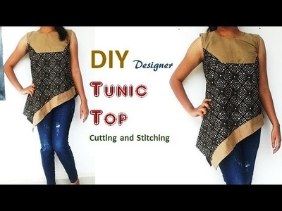 DIY designer TUNIC  top cutting and stitching full tutorial