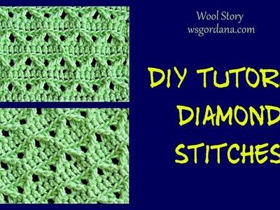DIY Diamond Stitch Crochet Tutorial (Heklana mustra)