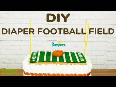 DIY Diaper Football Field | The Perfect Gift For Dads