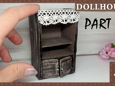 DIY Dollhouse    Miniature Furniture    Cupboard. Cabinet Tutorial    Part #1