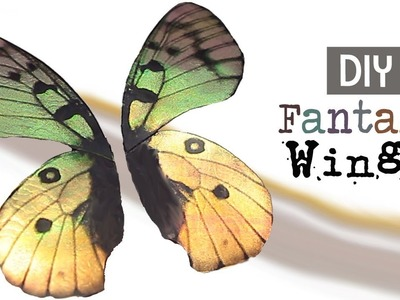 DIY Fantasy Wing Tutorial for Fairy, Dragon and Butterfly Projects- How to