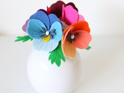 DIY Felt Pansy Flower