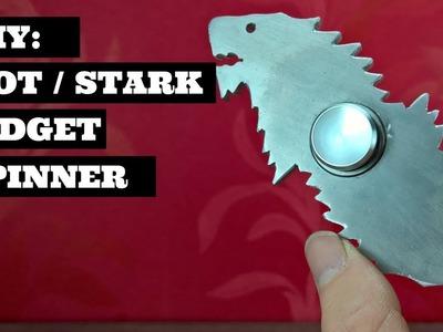 DIY Game Of Thrones Fidget Spinner. Stark Sigil Design