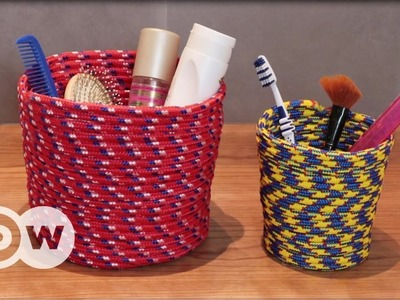 DIY - How to make a cord basket
