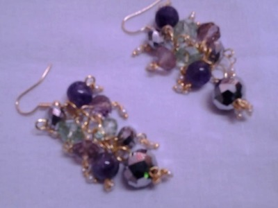 DIY How to make a stylish crystal beads hanging earrings