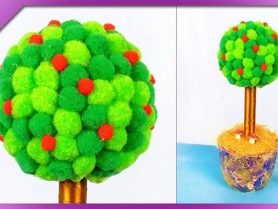 DIY How to make pom pom tree (ENG Subtitles) - Speed up #397