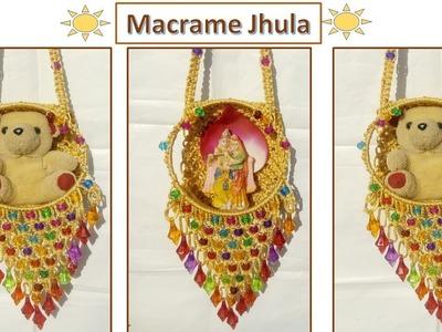 DIY How to make Simple Macrame Jhula | Krishna.Teddy Jhula Wall Hanging | simple tutorial design #1