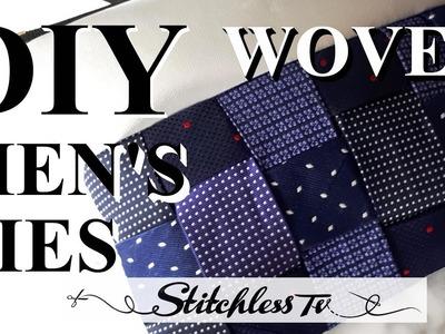 DIY How to weave thrifted men's ties