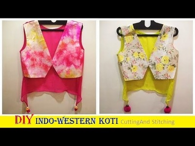 DIY Indo-Western koti cutting and stitching Full Tutorial