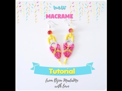 DIY Jewelry tutorial. Macrame tutorial. Easy summer macrame earrings from can tabs.