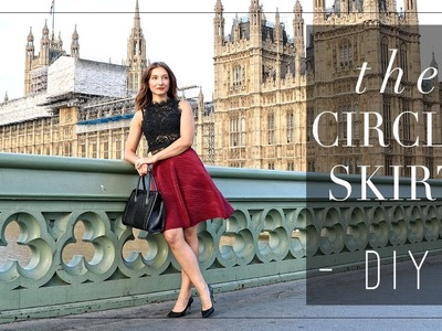 DIY | London Romance -- How to make a half circle skirt | Szilvia Bodi