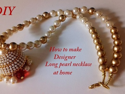 DIY | long pearl chain making | Silk Thread Jewellery