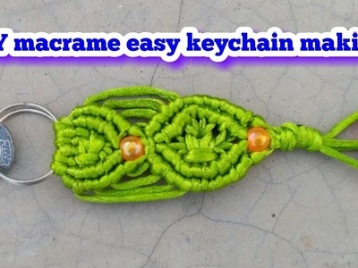 DIY macrame keychain tutorial:-custom keychains.designer keychains.macrame pattern.EDUCATIONAL POWER