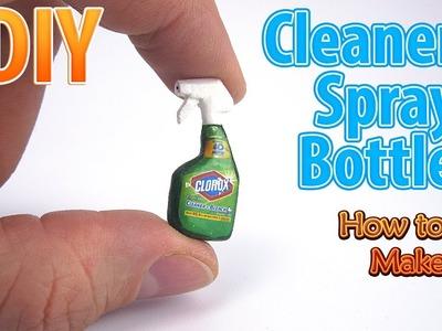 DIY Miniature Cleaner Spray Bottle | DollHouse | No Polymer Clay!