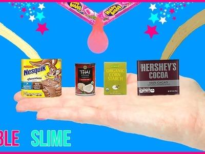 DIY Miniature Edible Slime! Chocolate, Bubblegum Slime DIYs! Tiny Slime Supplies! Slime You Can Eat!