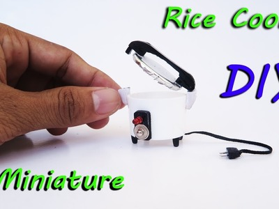 DIY Miniature Realistic  Rice Cooker | Dollhouse | new crafts ideas