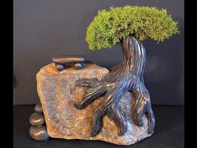 DIY Miniature Tree Diorama With Polymer Clay