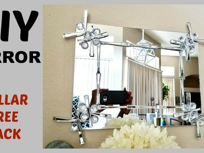 Diy Mirror Quick And Easy Using Dollar Store Items.