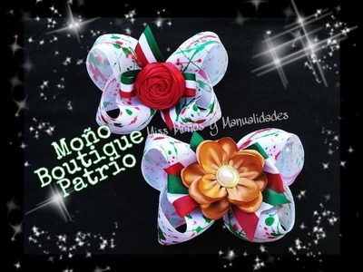 DIY Moño Boutique Patrio (BOUTIQUE BOW)